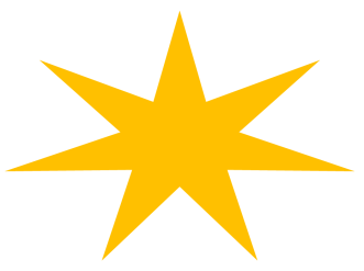 7 POINT GOLD STAR